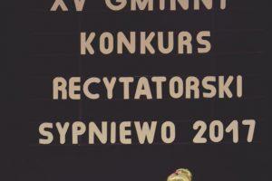 Konkurs recytatorski – Sypniewo 2017